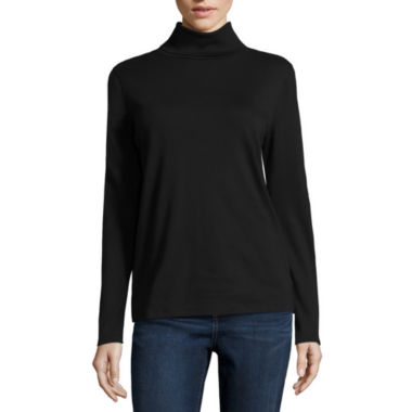 jcpenney.com | Liz Claiborne® Long-Sleeve Knit Turtleneck