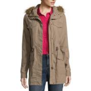 Liz Claiborne® Fur-Trim Anorak Jacket