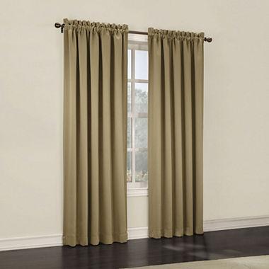 Sun Zero Emory Room Darkening Rod Pocket Curtain Panel Pair