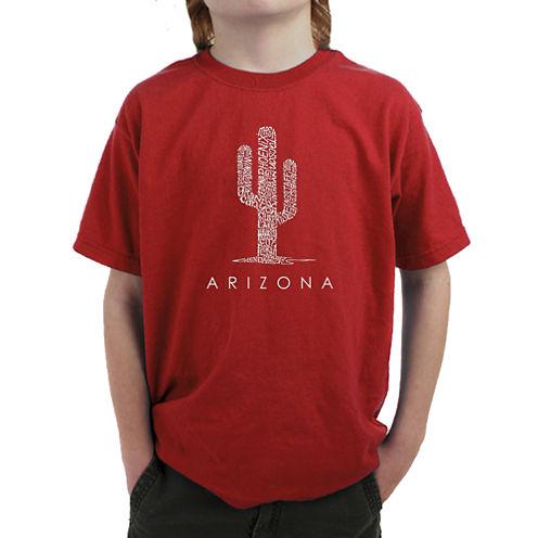 Los Angeles Pop Art Arizona Cities Graphic T-Shirt Boys