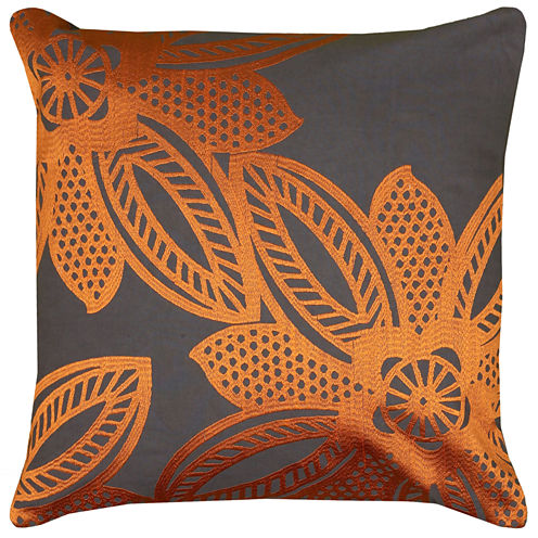 Rizzy Home Floral Lace Square Throw Pillow