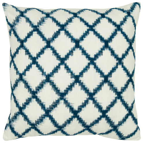 Rizzy Home Fractured Line Diamonds Square Throw Pillow