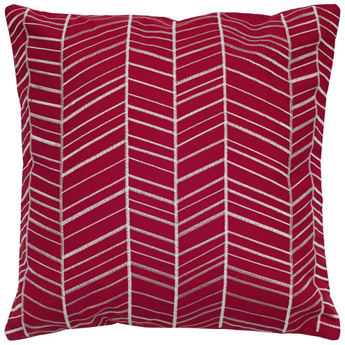 Rizzy Home Geo Medallion Square Throw Pillow