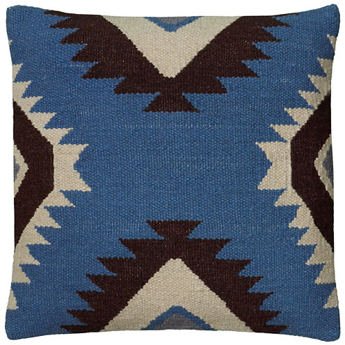 Rizzy Home Large X Shaped Southwestern Motif Square Throw Pillow
