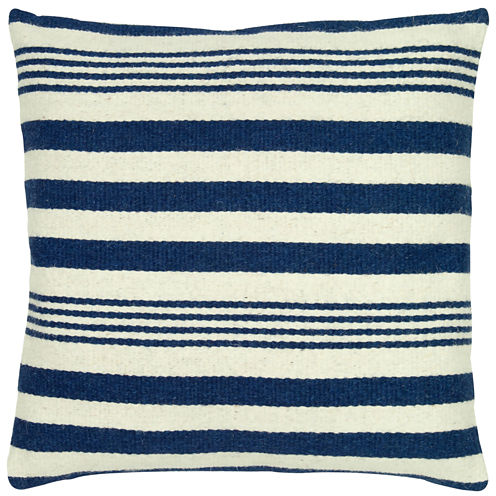 Rizzy Home Vertical Stripe Square Throw Pillow