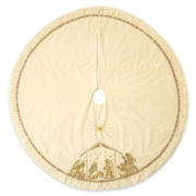 MarthaHoliday™ Silent Night White Velvet Christmas Tree Skirt