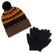 Berkshire Pom Hat & Gloves Set - Boys