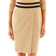 Worthington® Wrap Pencil Skirt with Contrast Waist