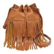 Arizona Astor Fringe Crossbody Bucket Bag