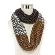 Olsenboye® Colorblock Basketweave Loop Scarf