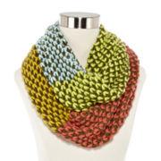 Olsenboye® Colorblock Basketweave Loop Scarf