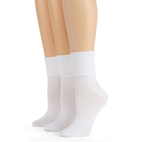 Mixit™ 3-pk. Mary Jane Turn-Cuff Socks