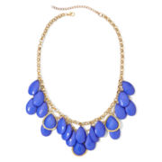 Aris by Treska Gold-Tone Blue Shaky Bead Necklace