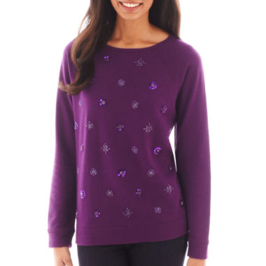 jcpenney.com | St. John's Bay® Embellished Sweatshirt - Tall