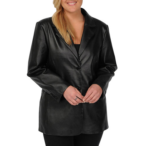 Excelled Nappa Leather 2-Button Blazer