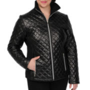 Excelled Quilted Scuba Jacket - Plus