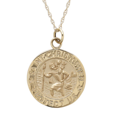 Infinite gold 14k st christopher pendant infinite gold 14k yellow gold st christopher pendant necklace aloadofball Image collections