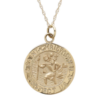 jcpenney.com | Infinite Gold™ 14K Yellow Gold St. Christopher Pendant Necklace