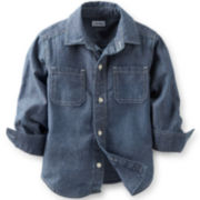 Carter's® Button-Front Woven Chambray Shirt – Boys 2t-4t