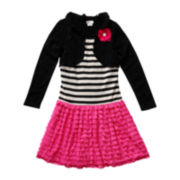 Emily West® Long-Sleeve Cardigan Dress – Girls 7-16