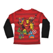 Avengers Long-Sleeve Graphic Tee – Boys 2t-5t