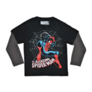 Spider-Man Long-Sleeve Graphic Tee – Boys 2t-5t