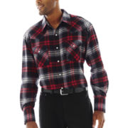 Ely Cattleman® Western Flannel Snap Shirt–Big & Tall