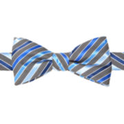 JF J. Ferrar® Duck Stripe Pre-Tied Bow Tie