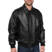Excelled® Leather Flight Jacket–Big & Tall