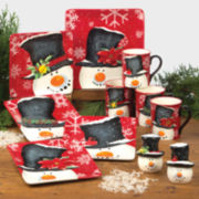 Top Hat Snowman Dinnerware Collection