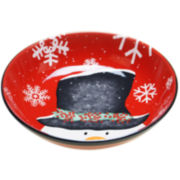 Certified International Top Hat Snowman Pasta Serving Bowl