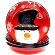 Top Hat Snowman Set of 4 Soup/Cereal Bowls