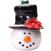 Top Hat Snowman Cookie Jar