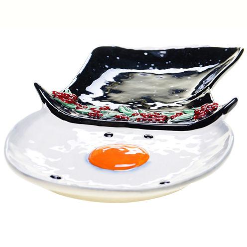 Certified International Top Hat Snowman Serving Platter