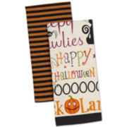 Happy Halloween Set of 2 Dish Towels