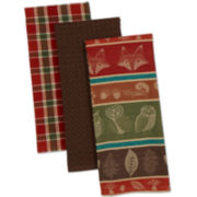 Woodsy Set of 3 Dish Towels