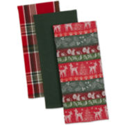 Woodland Christmas Set of 3 Dish Towels