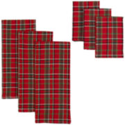Merry Plaid 6-pc. Dish Towel and Dishcloth Set