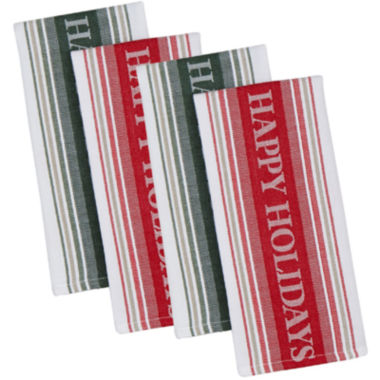 jcpenney.com | Happy Holidays Set of 4 Kitchen Towels