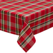 Jingle Bell Plaid Tablecloth
