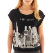 MNG by Mango® Rull-Cuff Short-Sleeve I Heart Tokyo Tee