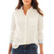 jcp™ Long-Sleeve Oxford Shirt