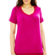 Ambrielle® Short-Sleeve Sleep Tee - Plus