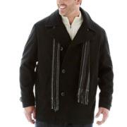 Claiborne® Wool-Blend Pea Coat–Big & Tall