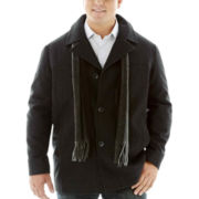 Claiborne® Wool Car Coat–Big & Tall