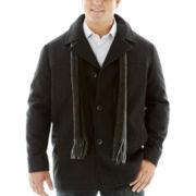 Claiborne® Wool Car Coat–Big & Tall