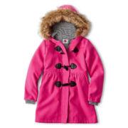 Total Girl® Faux Wool Duffle Coat – Girls 6-16