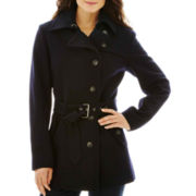 a.n.a® Short Belted Wool-Blend Coat