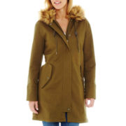 Liz Claiborne® Faux-Fur Trim Hooded Parka - Tall