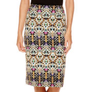 nicole by Nicole Miller® Print Scuba Skirt